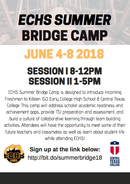 Summer Bridge Camp Flyer