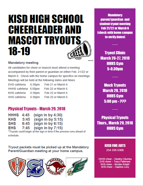 KISD Cheer and Mascot Tryout