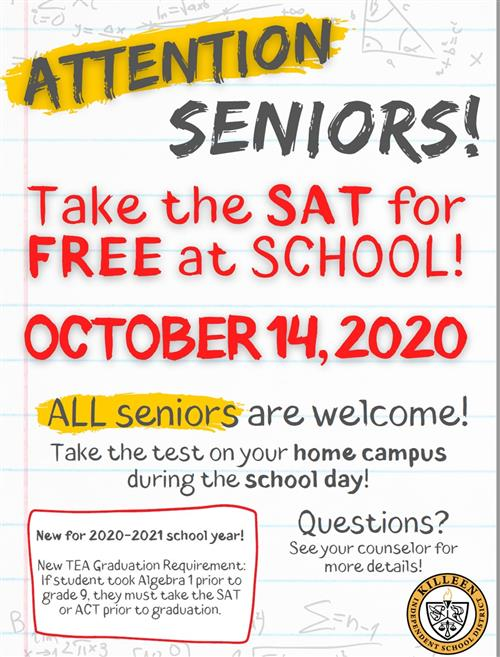 Attention Seniors!