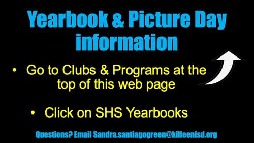 Yearbook & Picture Day Information